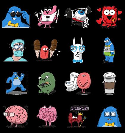 Lars & The Awkward Yeti Stickers
