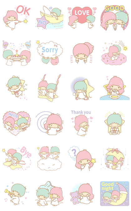 Little Twin Stars Animated Stickers