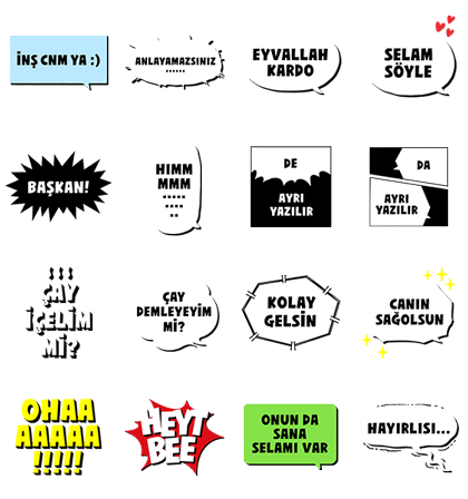 Turkish Text Stickers