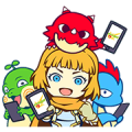 MONSTER STRIKE 1 & 2  + LIDRA Stickers