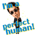 Perfect Human Singing Stickers