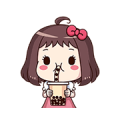 Ms. Red Bean: Animated Sound Stickers
