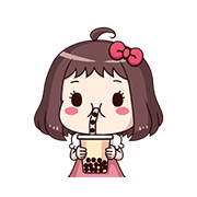 Ms.-Red-Bean-Animated-Sound-Stickers-