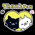 Kuroneko Stickers by Mojiji