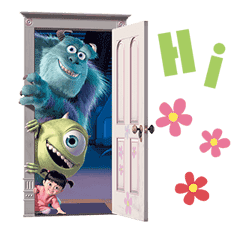 Monsters, Inc. Sticker for LINE & WhatsApp | ZIP: GIF & PNG
