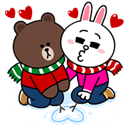 Brown & Cony Holiday Special | Sticker for LINE & WhatsApp ...