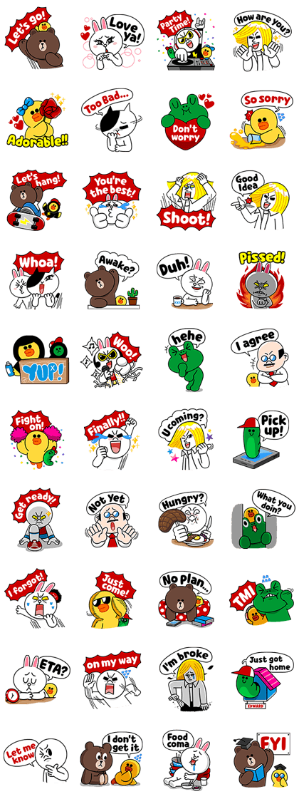 LINE Friends: Fun Phrases