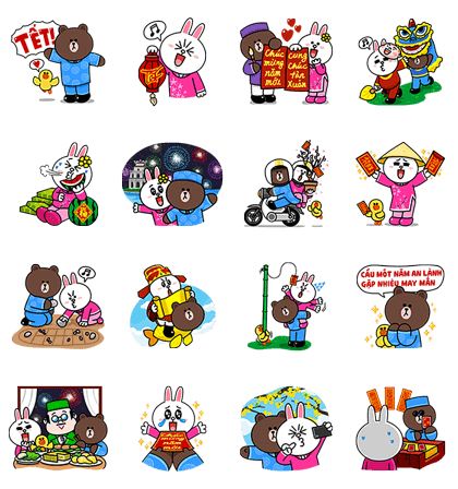 2015 Lunar New Year Special Edition – LINE Stickers