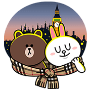 Brown & Cony Join Burberry in London Sticker for LINE ...