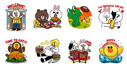LINE Friends Thanksgiving