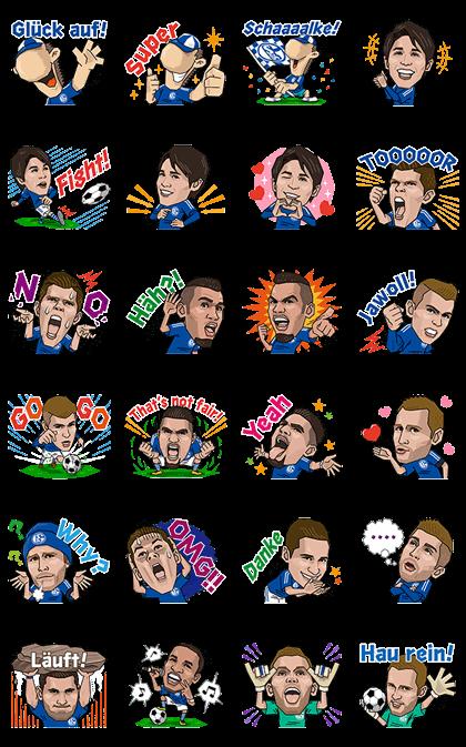 Schalke 04ʹs First Official Stickers