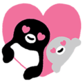 Suica's Penguin Pop-Up Stickers
