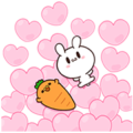 [Big Stickers] Moose The Rabbit & Carrot