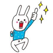 「CALPIS WATER」 × UH the Rabbit Sticker for LINE & WhatsApp | ZIP: GIF & PNG