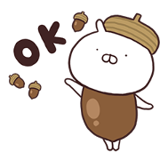 A Present from Usamaru Sticker for LINE & WhatsApp | ZIP: GIF & PNG