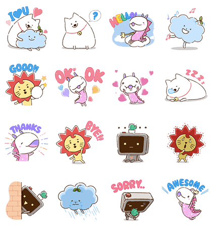 Download Amazing Friends ROY6: My Guiding Angels Sticker LINE and use on WhatsApp