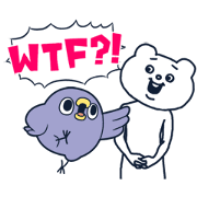 Animated Mentori × Betakkuma Sticker for LINE & WhatsApp | ZIP: GIF & PNG