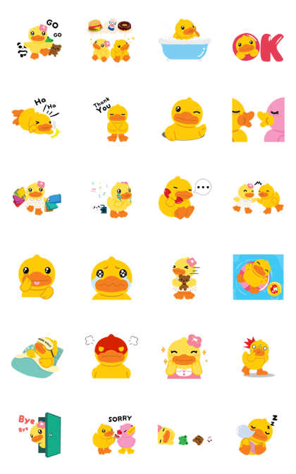 Download B.Duck & Buffy Daily Life Sticker LINE and use on WhatsApp