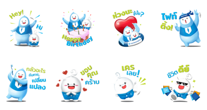 BLA Happy Life Line Sticker GIF & PNG Pack: Animated & Transparent No Background | WhatsApp Sticker
