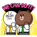 BROWN&FRIENDS Workplace Stickers Sticker for LINE & WhatsApp | ZIP: GIF & PNG