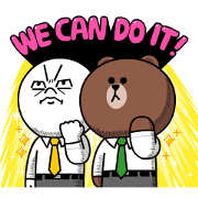 BROWN & FRIENDS Workplace Stickers Sticker for LINE & WhatsApp | ZIP: GIF & PNG