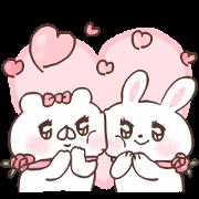 Free Bear Companion × L'OCCITANE Usa-tan. LINE sticker for WhatsApp