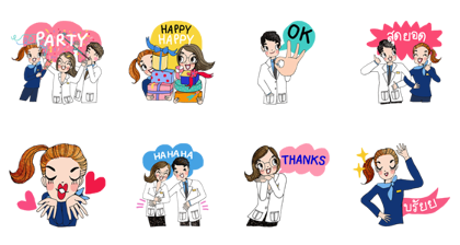Boots: Feel Good Together Line Sticker GIF & PNG Pack: Animated & Transparent No Background | WhatsApp Sticker