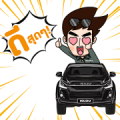 Boy Pakorn and Isuzu Hi-Lander Stealth! Sticker for LINE & WhatsApp | ZIP: GIF & PNG