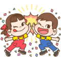 Bubble 2 x Peko Sticker for LINE & WhatsApp | ZIP: GIF & PNG