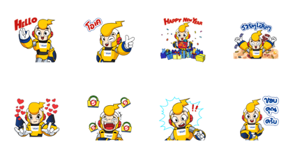 Celebrate the Happiness Together Line Sticker GIF & PNG Pack: Animated & Transparent No Background | WhatsApp Sticker