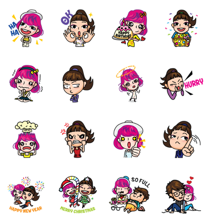 Celebrations @313 Line Sticker GIF & PNG Pack: Animated & Transparent No Background | WhatsApp Sticker