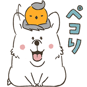 Corgi and Robin Sticker for LINE & WhatsApp | ZIP: GIF & PNG