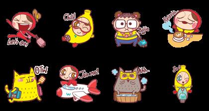 Cuti-Cuti Pocotee Line Sticker GIF & PNG Pack: Animated & Transparent No Background | WhatsApp Sticker