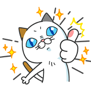 DHC Cat Yoshiko Tamagawa: She's Back! Sticker for LINE & WhatsApp | ZIP: GIF & PNG
