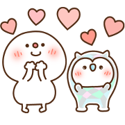 Free Daifuku × Hoot the Owl LINE sticker for WhatsApp