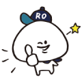 Free Daifuku-kun × Right-on LINE sticker for WhatsApp