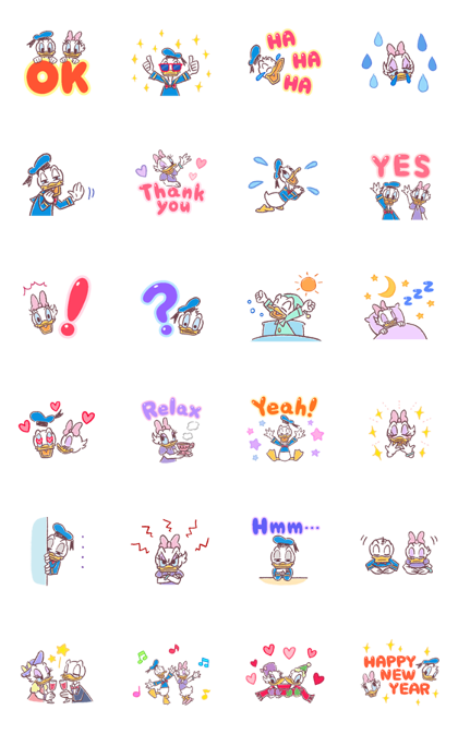 Download Donald & Daisy Supersized Letters Sticker LINE and use on WhatsApp