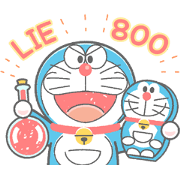 Free Doraemon's Animated Crayon Stickers LINE sticker for WhatsApp