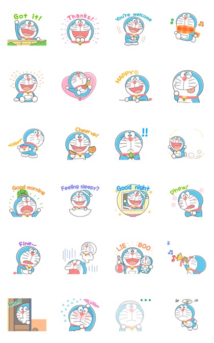 Download Doraemon's Animated Crayon Stickers Sticker LINE and use on WhatsApp