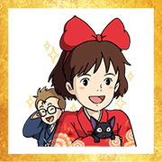 Free Ghibli New Year's Omikuji Stickers LINE sticker for WhatsApp