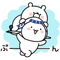 Girly Bear & ANA Soracchi Sticker for LINE & WhatsApp | ZIP: GIF & PNG