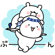 Free Girly Bear & ANA Soracchi LINE sticker for WhatsApp