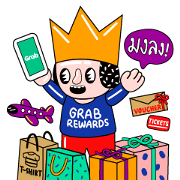 Free Grab: Your Everyday Solution LINE sticker for WhatsApp