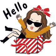 H&M: Let's Celebrate the Holidays Sticker for LINE & WhatsApp | ZIP: GIF & PNG