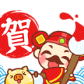 Happy Chinese Year of the Pig Sticker for LINE & WhatsApp | ZIP: GIF & PNG