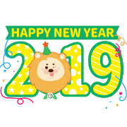 Free Happy New Year from First Bank LINE sticker for WhatsApp