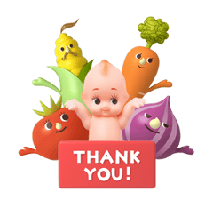 Free KEWPIE & VEGETABLE FRIENDS LINE sticker for WhatsApp