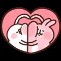 Free Kanahei's Piske & Usagi × RIZAP LINE sticker for WhatsApp