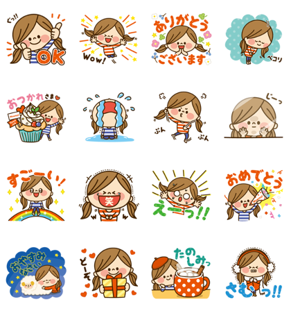 Download Kawashufu × Wowma! Sticker LINE and use on WhatsApp