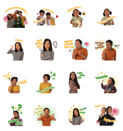 Download Keluarga Cemara Sticker LINE and use on WhatsApp